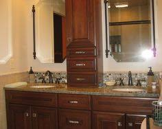 Small Bathroom Sink Cabinet Double Sink Bathroom Vanity With Dividing Storage Cabinet Tile