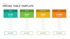 pricing table keynote and powerpoint template slidebazaar