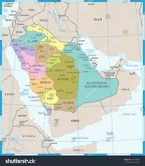 Mecca On Map Saudi Arabia Map High Detailed Vector Stock Vector 751920853