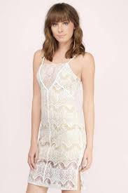 glamorous clothing trendy ivory dress lace slip dress beige lace dress shift