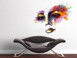 woman face watercolor silhouette vinyl wall art print splash decal woman face watercolor silhouette vinyl wall art print splash decal