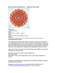 root chakra root chakra workshop u2013 september 15th 2015 christine miokovic