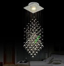 Contemporary Pendant Lighting Linear Crystal Suspension Contemporary Pendant Lamp Restaurant El