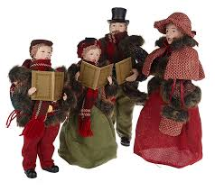 4 dickens family carolers by valerie page 1 qvc