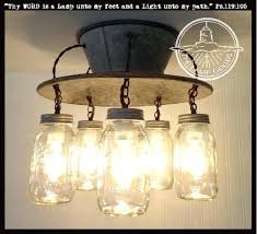 5 Jar Chandelier Jar Light Fixture For Sale Pretzl Me