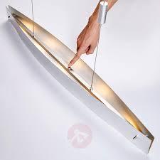 Esszimmerlampe Mit Touchdimmer Esszimmer Led Pendelleuchte Lio Mit Silberfolie Kaufen Lampenwelt Ch