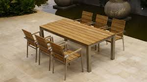 Wooden Patio Dining Set Summer With Outdoor Dining Table Wood Table Design