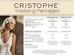 bridal hair prices wedding cristophe