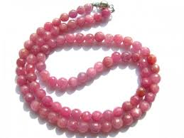 necklace stone beads images Genuine round faceted natural ruby stone bead necklace 6 7mm 73pcs jpg