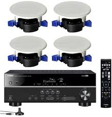 Wireless Speakers In Ceiling by Yamaha 5 1 Channel Wireless Bluetooth 4k A V Home Theater Receiver