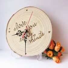 Wooden Wedding Gifts Wood Clock Wedding Gift Custom Wood Log Desk Clock Shine Kids