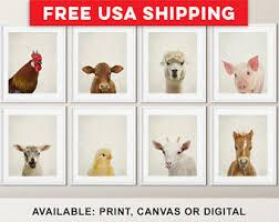 Farm Animal Nursery Decor Farm Animal Nursery Decor Farm Nursery Prints Country Nursery