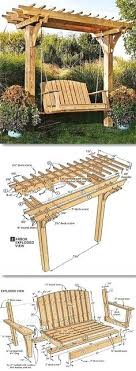 arbor swing plans free woodworking arbor swing frame plans plans download free woodworking