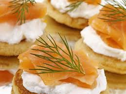 bellini canape smoked salmon blini canapes recipe eat smarter usa