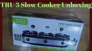 tru three 2 1 2 quart crock pot slow cooker unit unboxing youtube