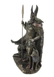 amazon com 9 75 inch norse god odin cold cast bronze sculpture