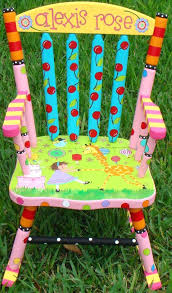 Kids Personalized Chairs Toddler Rocking Chairs Personalized Customized Girls Rocking Chair