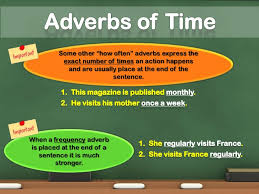 focusing adverbs and adverbs of time