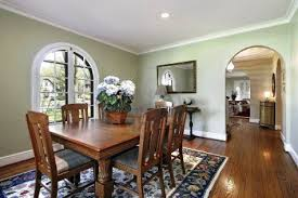dining room paint ideas with chair rail four pieces covered fabric