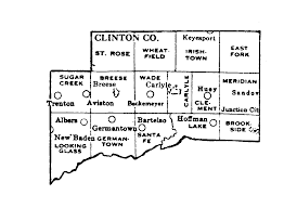Map Of Illinois Counties Clinton County Illinois Maps And Gazetteers