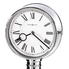 Howard Miller Chiming Mantel Clock Mantel Clocks Quartz Mantel Clocks Chrome Case Black Coffee