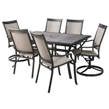 threshold harriet sling patio 7 piece dining furniture set for