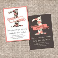 birthday invites awesome one year old birthday invitations ideas