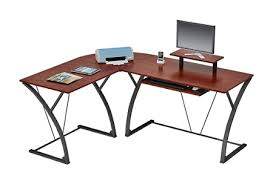 Office Max L Desk Z Line Designs Khloe L Shaped Glass Computer Desk Espresso By