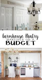 farmhouse pantry on a budget shiplap thankful sign diy