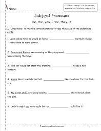 Subject Pronouns Worksheet Pronouns Nouns Worksheets From The S Guide