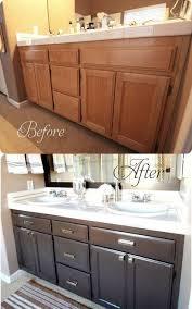 Redo Bathroom Vanity Transforming Bathroom Vanity With Gel Stain Java Gel Stain Java