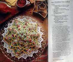 star christmas tree cookies old recipe book days of yore