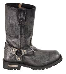 men s motorcycle boots men s motorcycle genuine leather distressed grey 11 inch boot