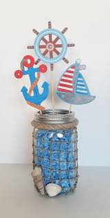 jar centerpieces for baby shower nautical baby shower table centerpiece nautical jar sailor