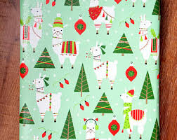 dachshund christmas wrapping paper gift wrap etsy
