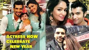 television actors are how celebrate in the new year