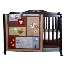 Geenny Crib Bedding Bedding Geenny Boutique Airplane Aviator Crib Bedding Set