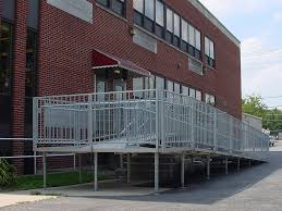 Wheelchair Ramp Handrails Aluminum Portable Handicapped Wheelchair Ramps For Disabled Access