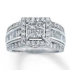 jareds wedding rings diamond ring 2 ct tw princess cut 14k white gold