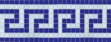 greek pattern tiles greek key blue and white glass mosaic patterned waterline tiles for