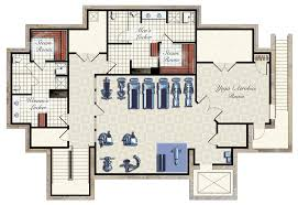 fitness center floor plan layout fitness center floor plans