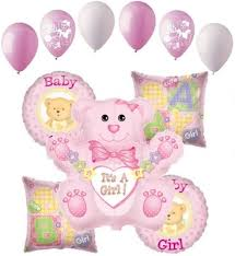 welcome home baby shower 11pc baby girl balloon decoration party baby shower welcome home