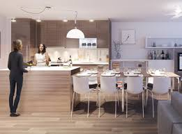 Integrated Dining Table With Kitchen Island For Modern Apartment - Dining room island tables