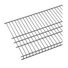 Lowes Shoe Storage Shop Closetmaid 6 Ft L X 16 In D Charcoal Wire Shelf At Lowes Com