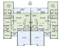 Multi Family Home Floor Plans Multi Family Home Plans Two Story Duplex Plan 025m 0079 At