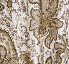 Paisley Shower Curtains Pottery Barn Charlie Paisley Shower Curtain Organic Neutral Fabric