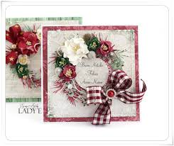 2 christmas cards with wreaths wild orchid crafts dt scrap art