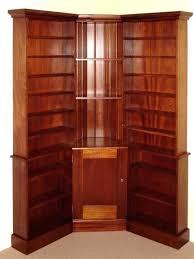 Wood Corner Bookcase Corner Bookcase With Doors Hercegnovi2021 Me