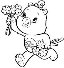 care bears handful flowers care bears coloring pages