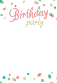 free birthday invitation cards templates best 25 free birthday